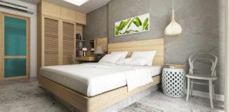 Patul este piesa de mobilier esențială în amenajarea unui dormitor mic