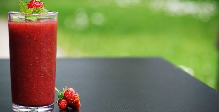 Smoothie cu căpșuni